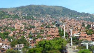 Le metrocable à Medellin en Colombie