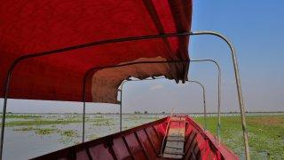 Bateau dans la cienaga de Mompox en Colombie
