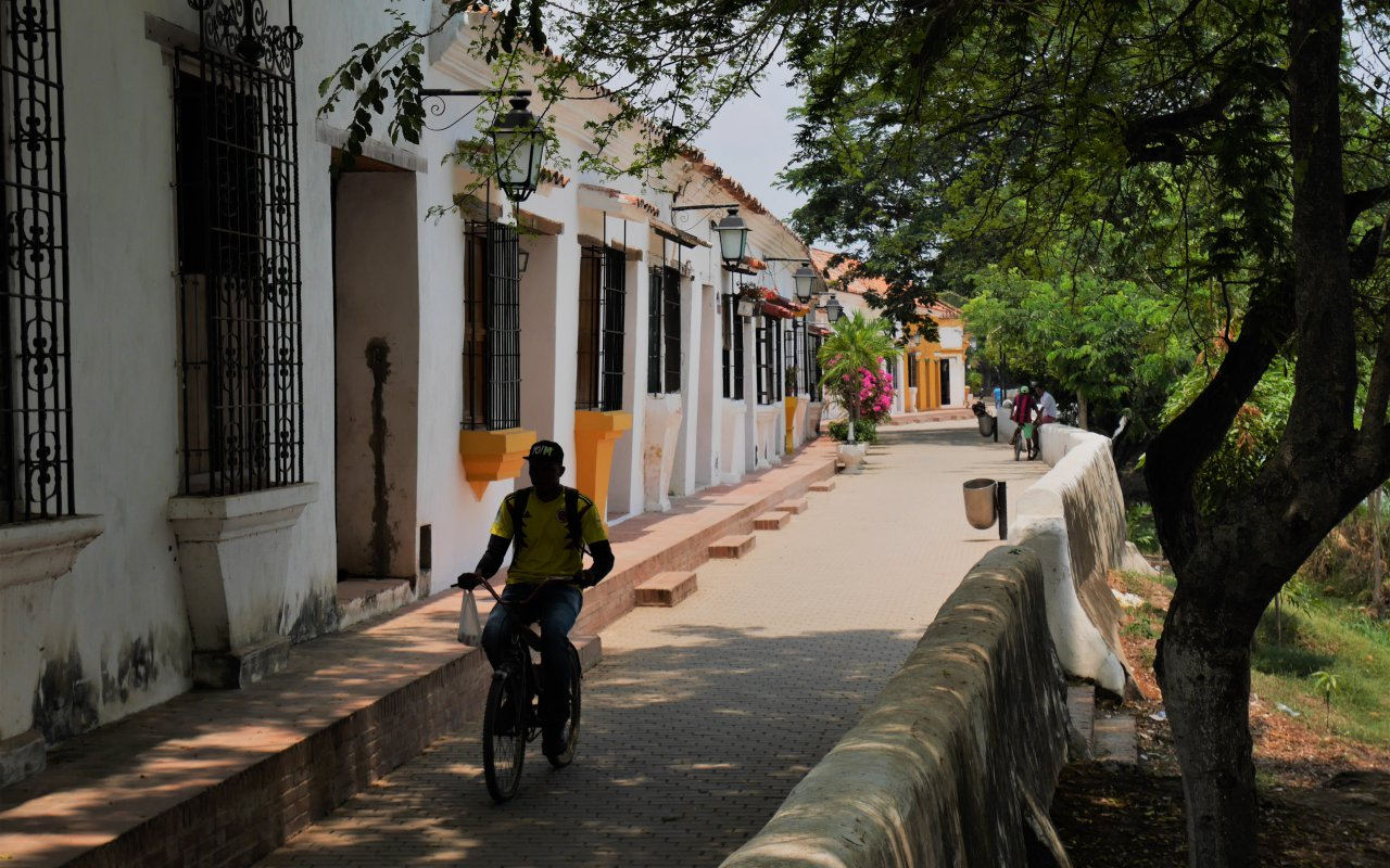 Les ruelles à l'achitecture coloniale de Mompox