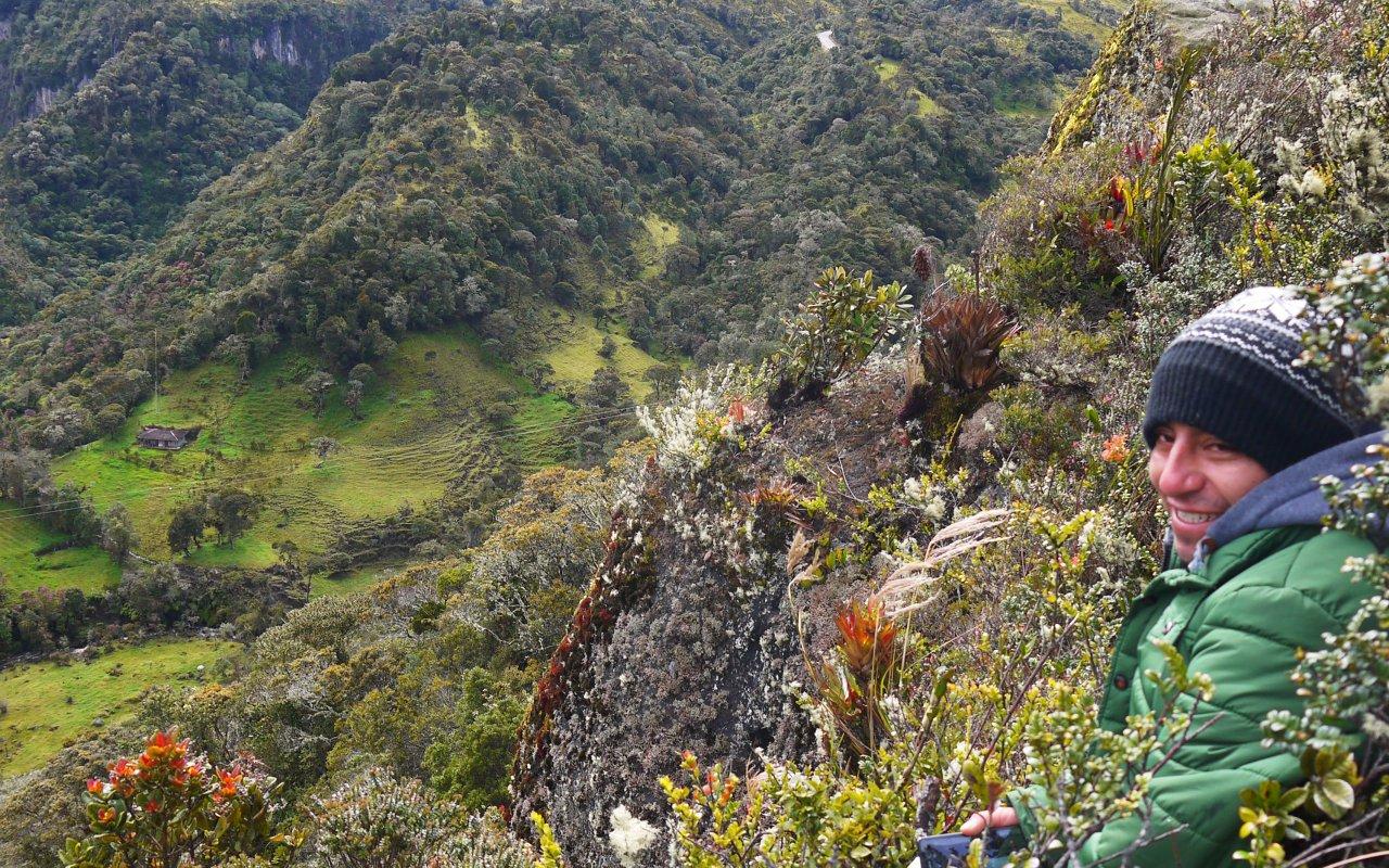 Guide de Galvin dans la région du Paramo Puraceno