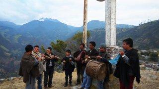 Une Chirimiya au milieu des paysages du Cauca en Colombie