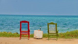 La tranquilité de l'ile Mucura dans l'archipel San Bernardo