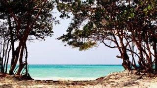 Les plages des iles du Rosaire dans les Caraïbes