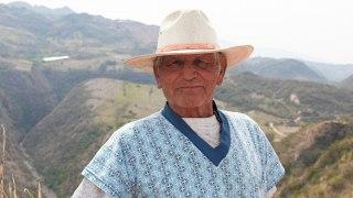 Portrait d'un colombien à Villa de Leyva